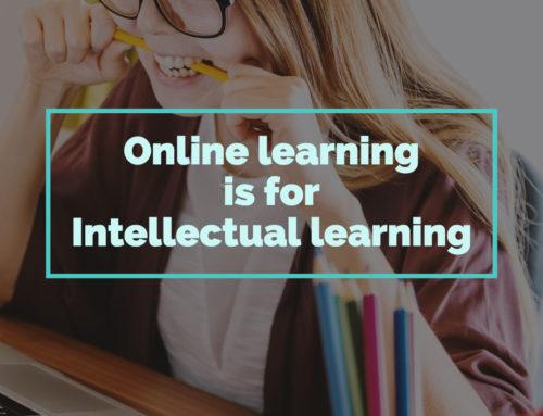 あなたのオンライン講座が「リアル講座の劣化版」を卒業するには?①ーOnline learning is for intellectual learning